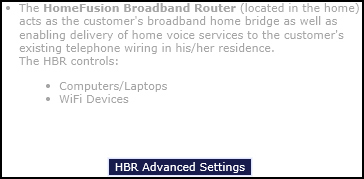 Click HBR Advanced Settings