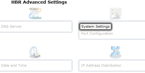 Click System Settings