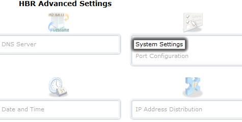 Haz clic en Configuración del sistema