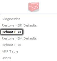 Hacer clic en Reboot HBR