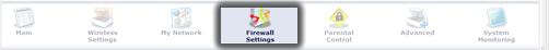 Hacer clic en Firewall