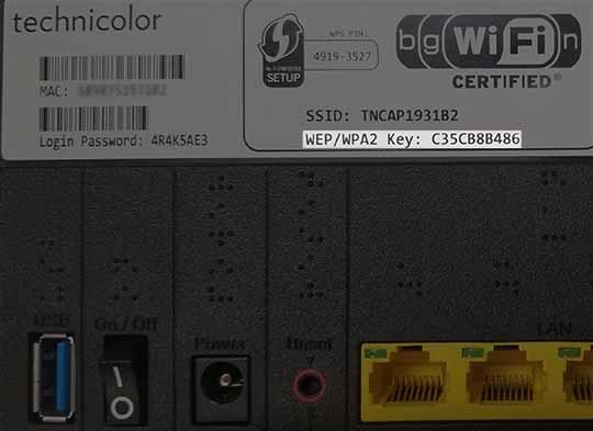View Network Password
