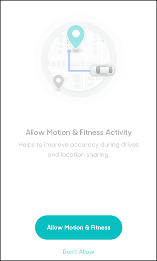 Tap Allow Motion & Fitness
