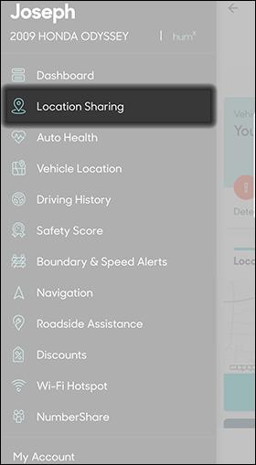 Tap Location Sharing
