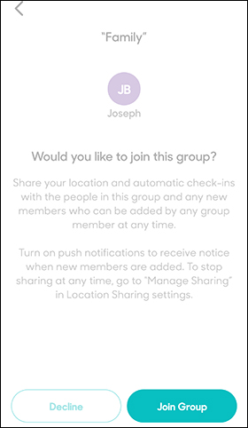 Tap Join Group