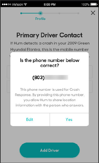 Confirm phone number