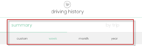 Driving history timeframe