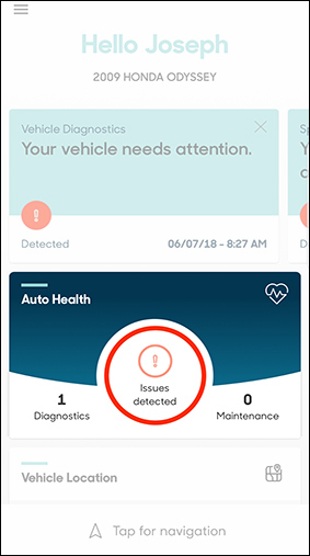 Dashboard auto health