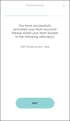Hum activation confirmation