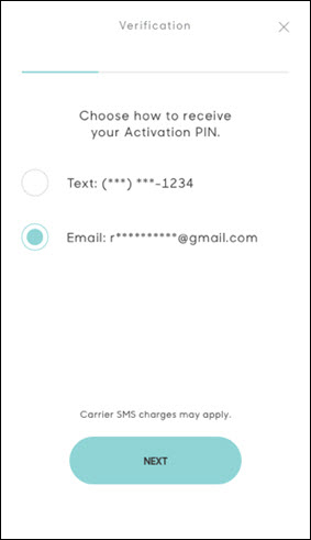 Hum activation pin screen