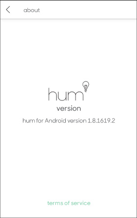 hum about app screen