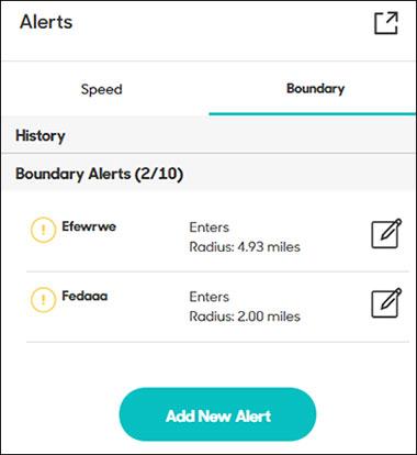 Boundary alerts