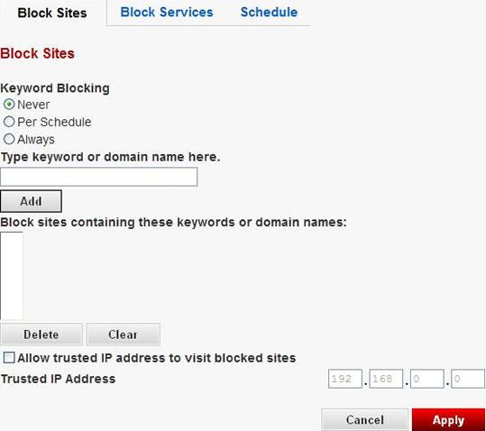 Netgear Router Keyword Blocking Not Working