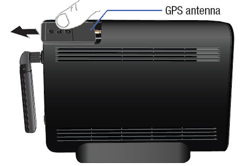 GPS antenna detachment