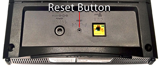 Network Extender Reset Button