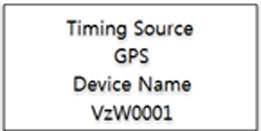 Display GPS timing Source and Device Name screen