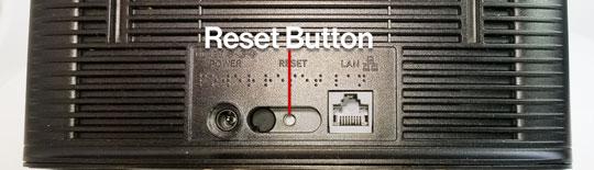 Network Extender Reset Button