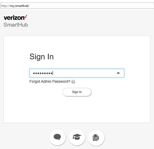 SmartHub admin sign in screen