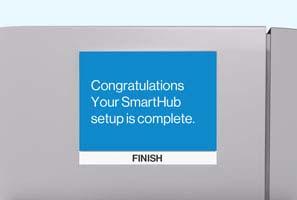 SmartHub setup complete screen