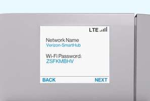 SmartHub initial setup SSID and Password