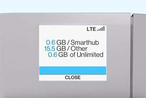 SmartHub Data usage detail screen