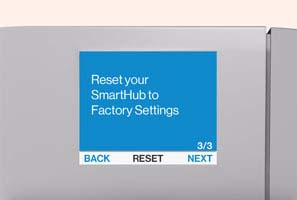 SmartHub factory reset confirmation