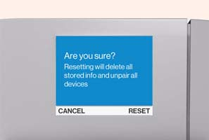 SmartHub reset screen