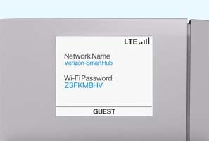 SmartHub display Wi-Fi credentials