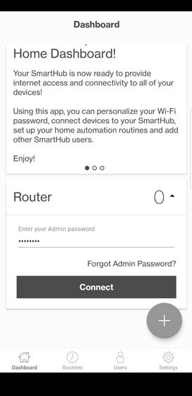 Dashboard Router settings before login