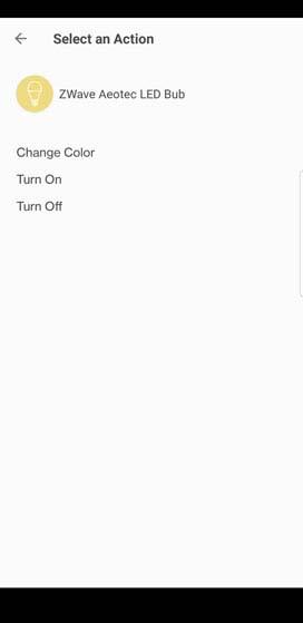Verizon Home action selection