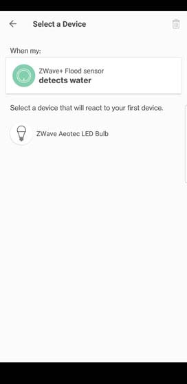 Verizon Home routine edit device triggered