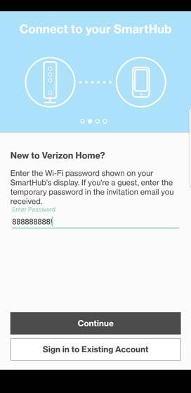 SmartHub app password