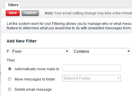 Follow the instructions for adding a filter then click then Save