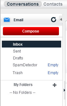 From the Conversations tab, click Inbox