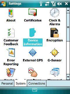 Información sobre el dispositivo