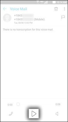 Voicemail Play Button